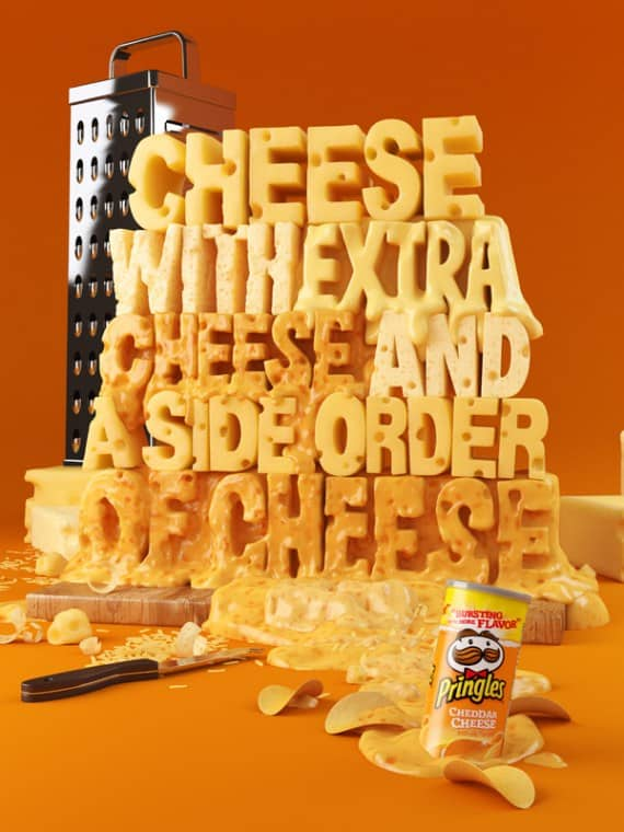 Pringles Galaxy 50 Examples of Typography in Advertising