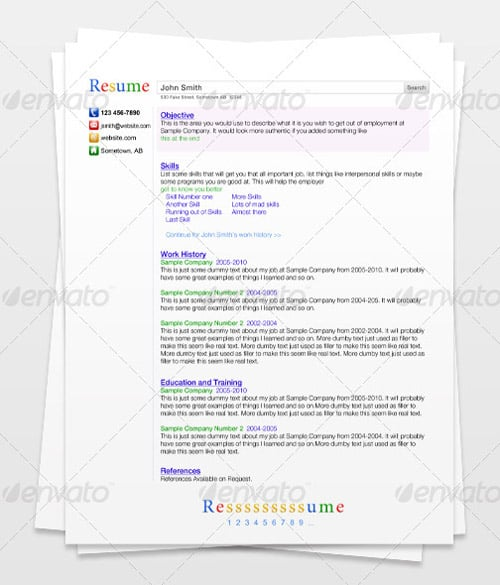 Search Engine Resume 30 Modern and Professional Resume Templates