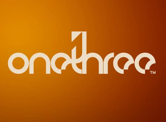 onetwo3 35+ Amazing Typography Based Logo Designs