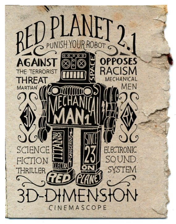 red planet 50 Examples of Typography in Advertising