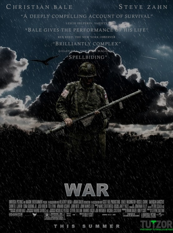 war poster Final large 30+ Chilling Photoshop Water Effect Tutorials