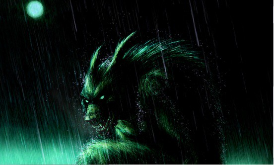 werewolf in the rain 30+ Chilling Photoshop Water Effect Tutorials