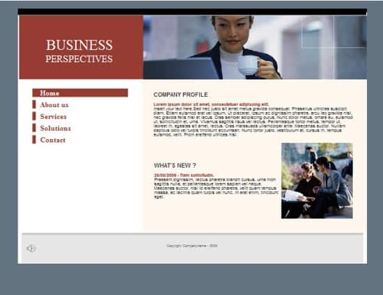 Free Flash Business Web Template