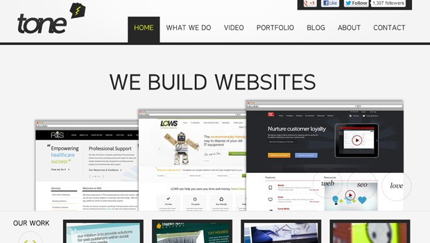 wpid 02 tone agency user centric websites 40 Brilliant Web Design and Portfolio Websites