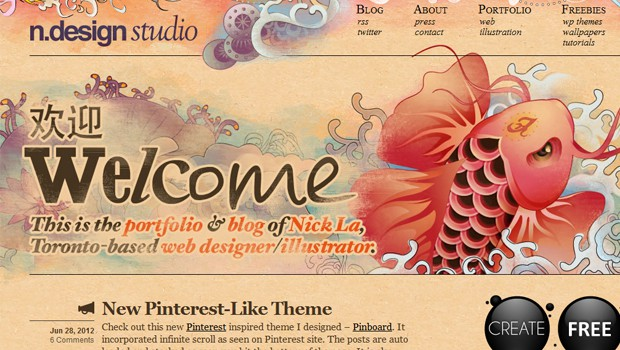 wpid 03 n design studios nick la 40 Brilliant Web Design and Portfolio Websites