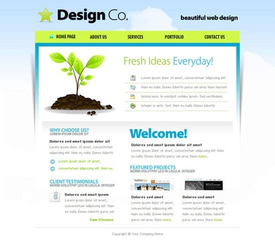 wpid 05 Web Design Company 20 Free Flash Website Templates For Download