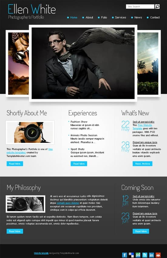 wpid 05 free website template photographer portfolio 15 Amazing Free HTML5 and CSS3 Templates