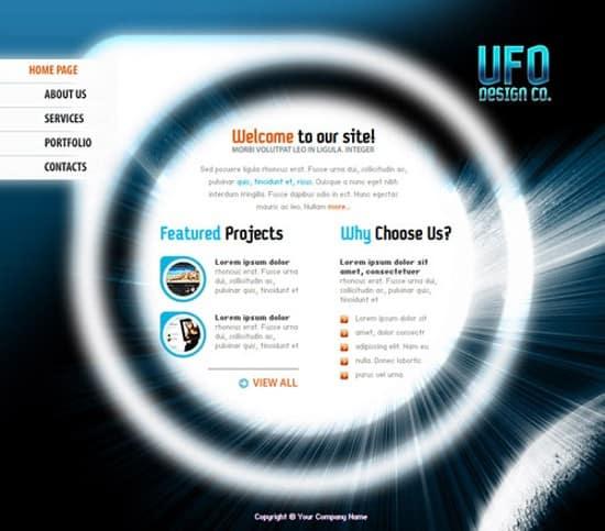 free flash Design Company web template