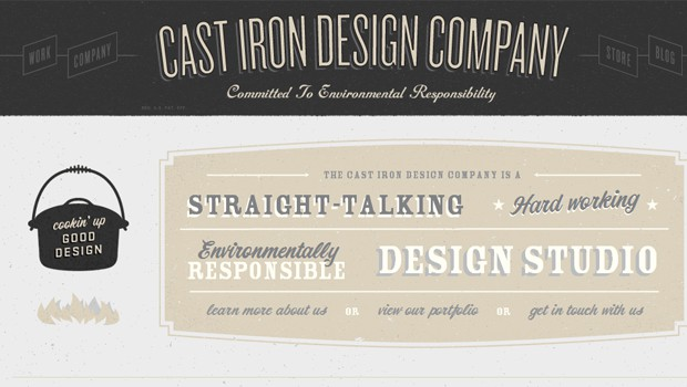 wpid 06 cast iron design company 40 Brilliant Web Design and Portfolio Websites