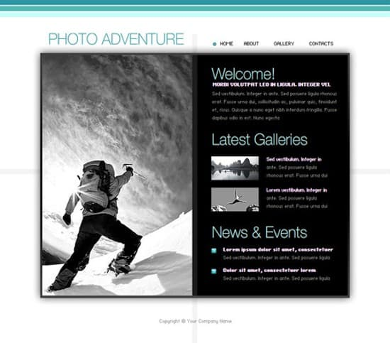 wpid 07 Photo Adventure 20 Free Flash Website Templates For Download