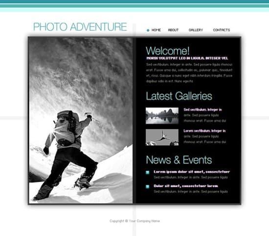 photo adventure free flash template