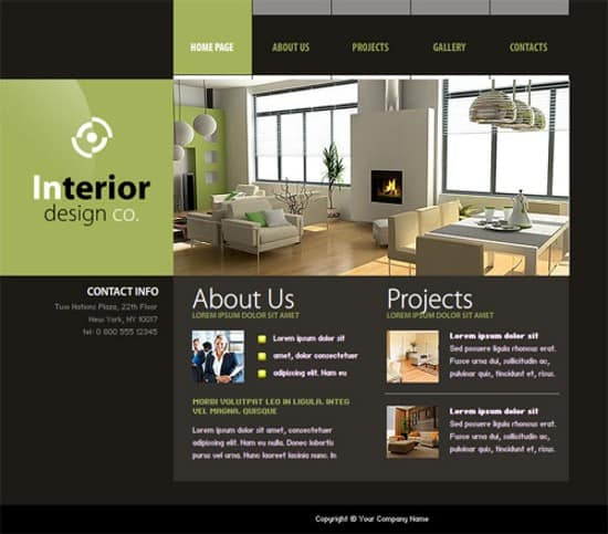 20 Free Flash Website Templates For Download Interior Design Web Templates