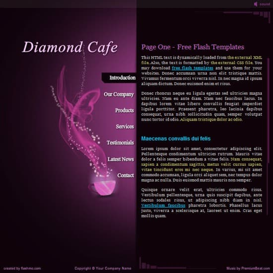 wpid 12 Diamond Cafe 20 Free Flash Website Templates For Download