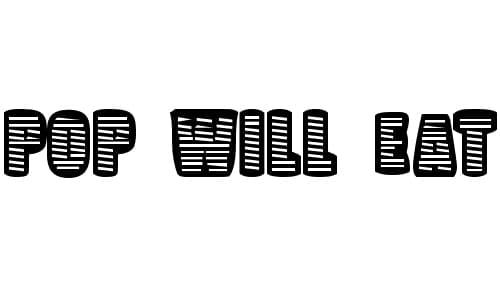 Pop Will Eat Itself font