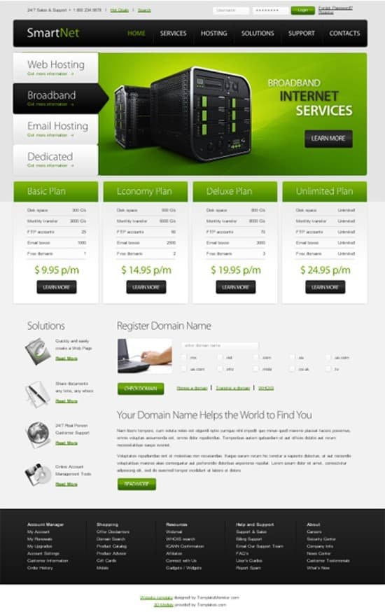 wpid 13 Hosting Free template 15 Amazing Free HTML5 and CSS3 Templates
