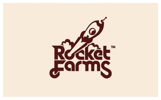 wpid 13 RocketFarmsLogobyNeverdone 35+ Amazing Typography Based Logo Designs