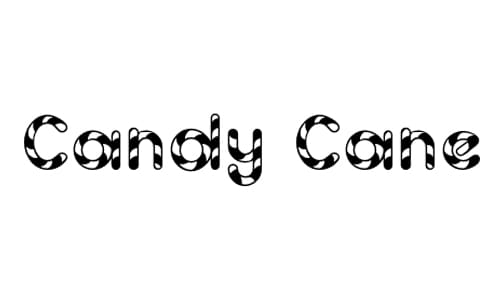 Candy Cane font