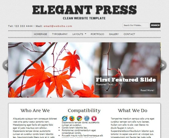 wpid 15 ElegantPress HTML5 and CSS3 Template 15 Amazing Free HTML5 and CSS3 Templates
