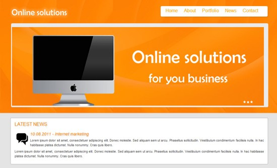 wpid 19 Online Solutions HTML5 and CSS3 Template 15 Amazing Free HTML5 and CSS3 Templates