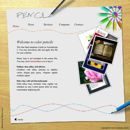 wpid 19 Pencil 20 Free Flash Website Templates For Download
