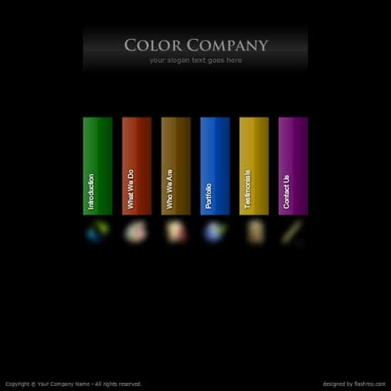 wpid 20 Color Company 20 Free Flash Website Templates For Download