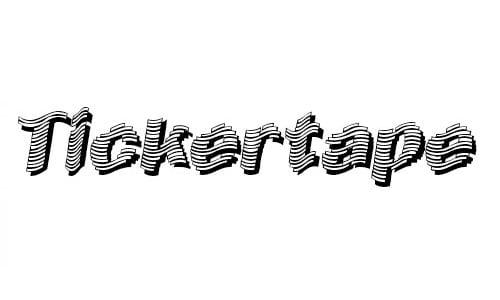 Early Tickertape font