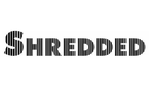 wpid 26 shredded 40+ Free Striped Fonts