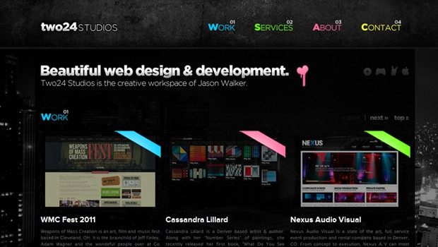 wpid 33 two 24 studios website design agency 40 Brilliant Web Design and Portfolio Websites