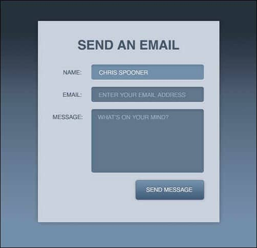 wpid create a stylish contact form with HTML5 and CSS3thumb 30 Useful HTML5 and CSS3 Forms Tutorials
