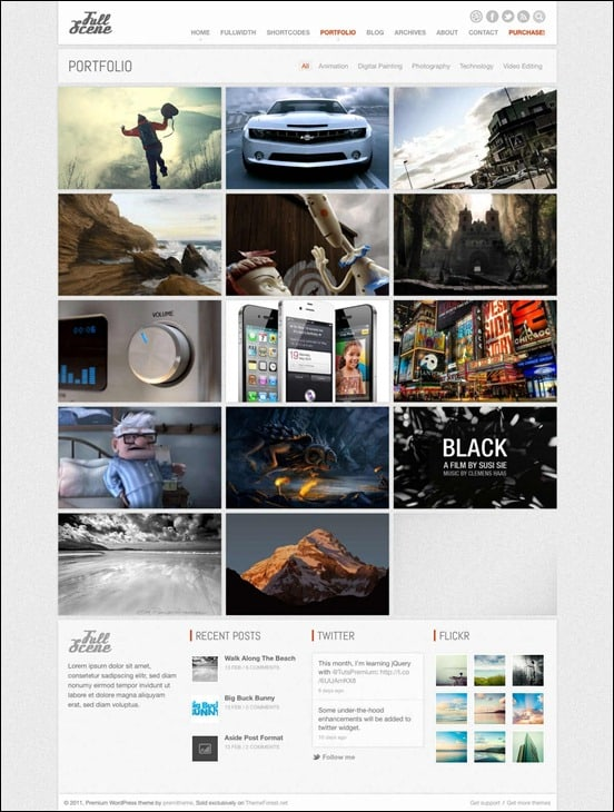 wpid fullscenethumb 50 Amazing WordPress Grid Themes