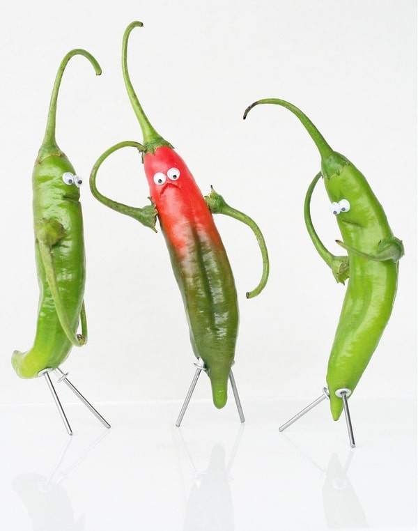 wpid green chillies Funny Food Photo Manipulation by Vanessa Dualib
