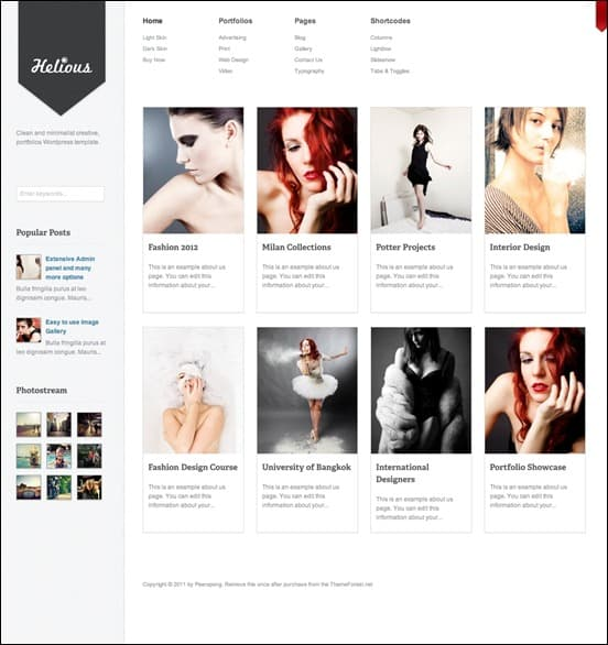 wpid heliosthumb 50 Amazing WordPress Grid Themes