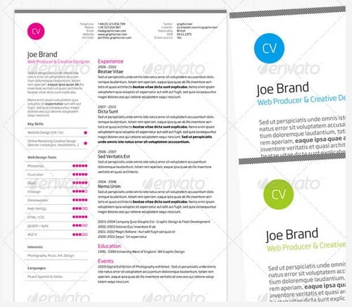wpid modern and professional resume template examples 11 30 Modern and Professional Resume Templates