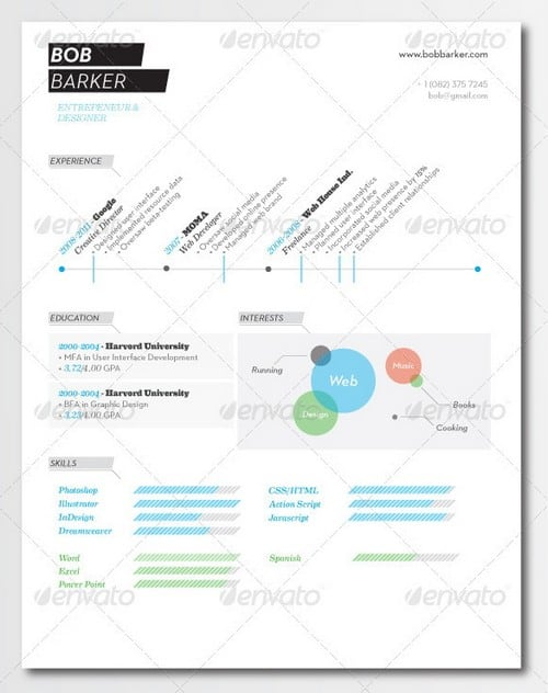 wpid modern and professional resume template examples 12 30 Modern and Professional Resume Templates