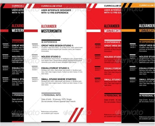 wpid modern and professional resume template examples 19 30 Modern and Professional Resume Templates