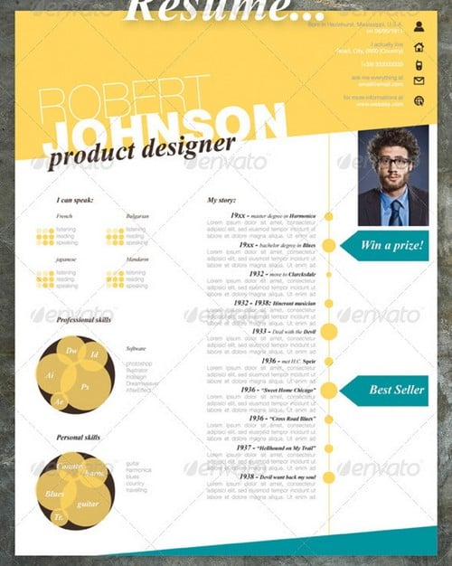 wpid modern and professional resume template examples 21 30 Modern and Professional Resume Templates