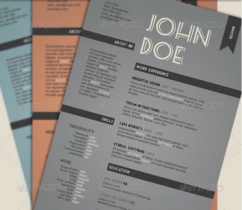 modern and professional resume template examples 22