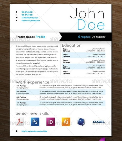 wpid modern and professional resume template examples 23 30 Modern and Professional Resume Templates