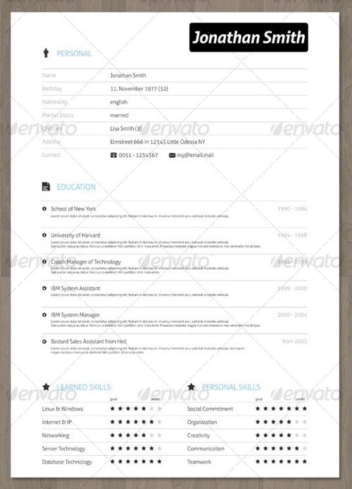 wpid modern and professional resume template examples 25 30 Modern and Professional Resume Templates