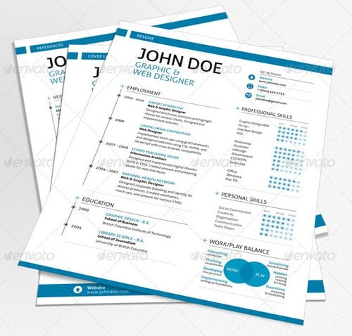 wpid modern and professional resume template examples 8 30 Modern and Professional Resume Templates
