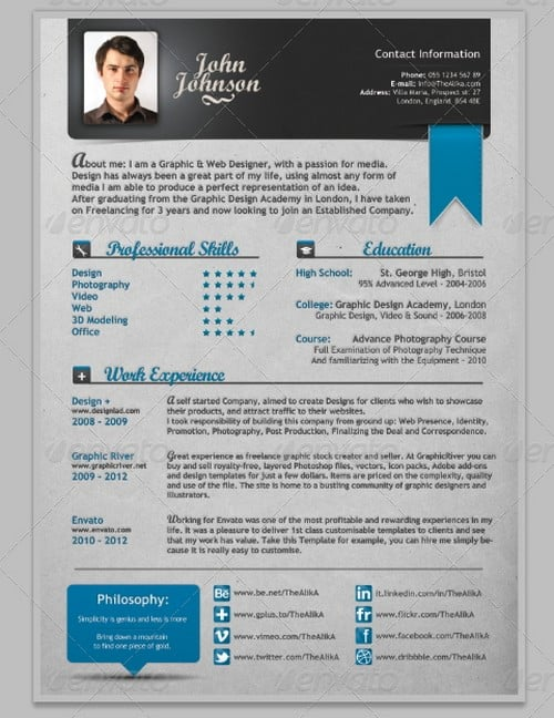wpid modern and professional resume template examples 9 30 Modern and Professional Resume Templates