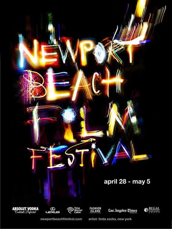 wpid newport beach film festival 50 Examples of Typography in Advertising