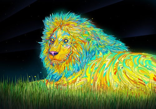 Colorful Lion Wallpaper