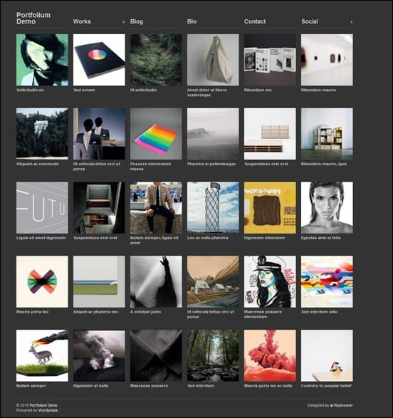wpid portfolium3thumb 50 Amazing WordPress Grid Themes
