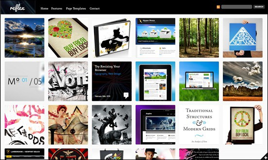 wpid reflexthumb 50 Amazing WordPress Grid Themes