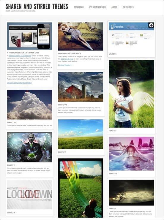 wpid shaken gridthumb 50 Amazing WordPress Grid Themes