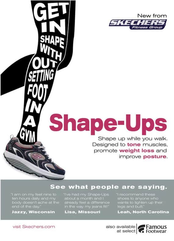 wpid shape ups 50 Examples of Typography in Advertising