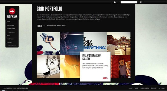 wpid sidewaysthumb 50 Amazing WordPress Grid Themes