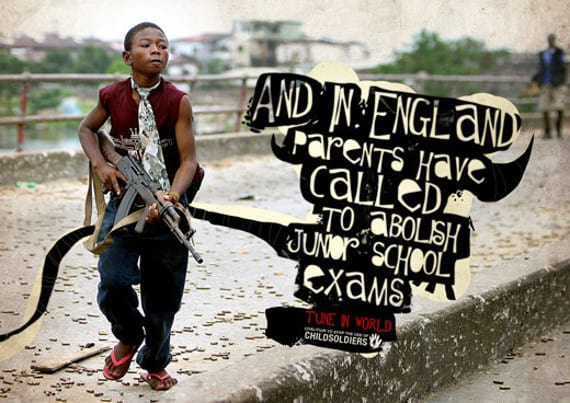 wpid stop child soldiers eng 50 Examples of Typography in Advertising