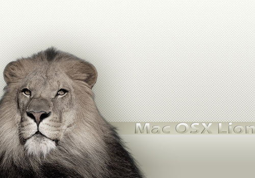 White Theme Mac Lion Wall